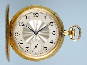 Decorative Gold Full Hunter Pocket Watch - Antique Pocket Watches For Sale- Classic Watch