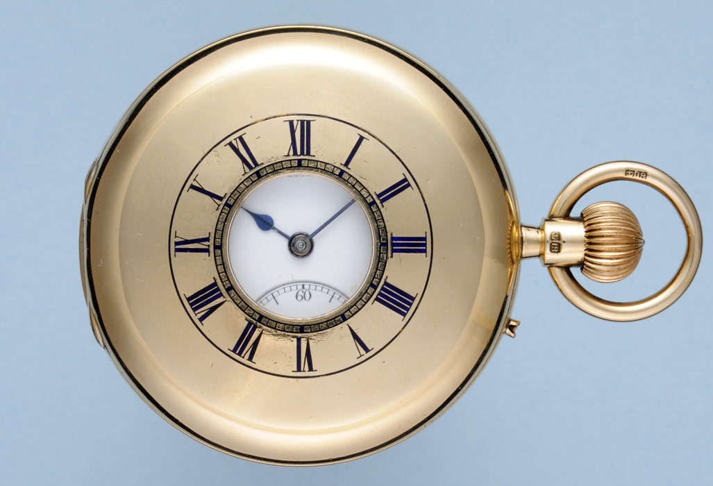 Gold English Half Hunter- An Antique Pocket Watch- Perfect For An Antiques Collection