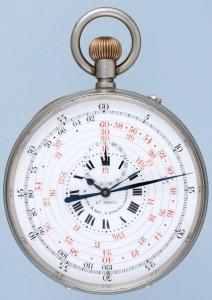 Large Nickel Chronograph- Antique Pocket Watch- Classic Watch