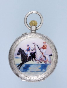 Silver and Enamel Swiss Cylinder - Antique Pocket Watch- Ideal To Wear To The Races