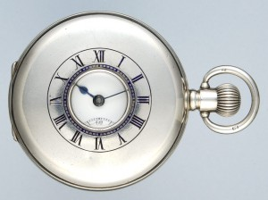 Silver English Half Hunter - Part Of The Classic Collection Of Antique Pocket Watches Available- Perfect For Epsom Races