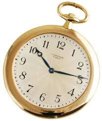 1920s Cartier 18ct gold example with an enamelled Egyptian Huntsman scene - Antique Pocket Watches
