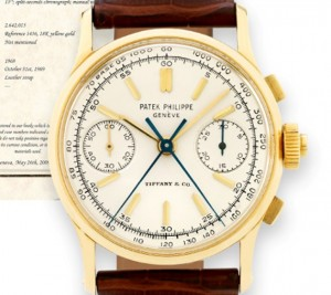SPLIT SECONDS PATEK PHILIPPE REFERENCE 1436 BY TIFFANY & CO.   Classic Wrist Watches