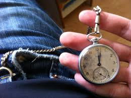 Hipster Wearing A Pocket Watch- Antique Pocket Watches UK
