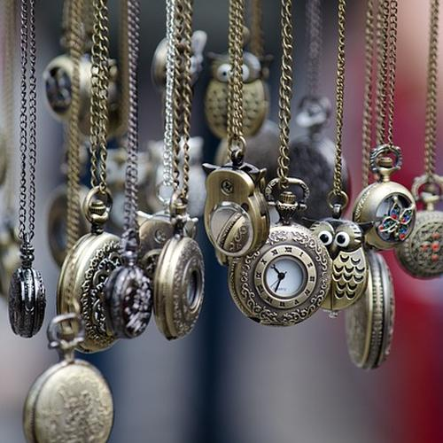 A collection of watches, similar to the pocket watches for sale at Pieces of Time