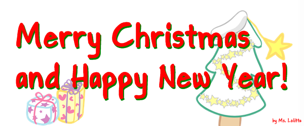 merry christmas happy new year pieces of time