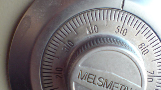 the combination on a safe ideal for storing valuable antique pocket watches