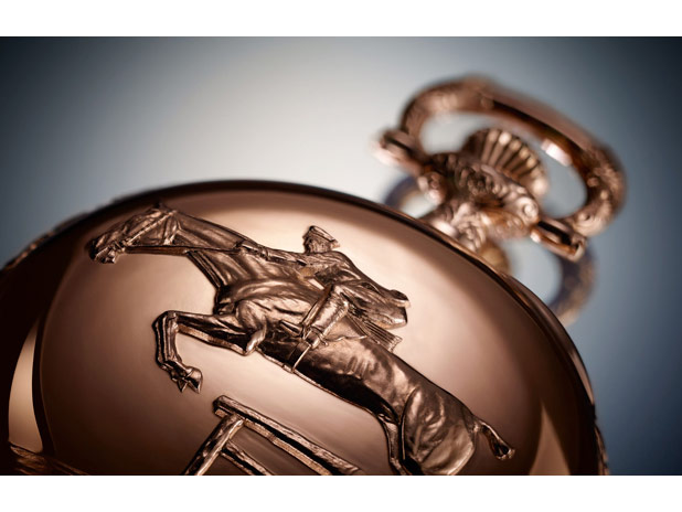 The limited edition Longines vintage pocket watch created in order to commemorate the Chinese year of the horse.