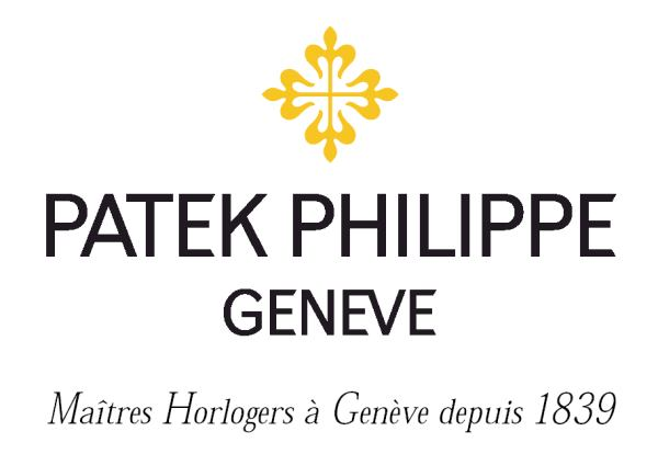 A Patek Philippe logo. Makers of antique watches for sale like this in Pieces of Time, London.