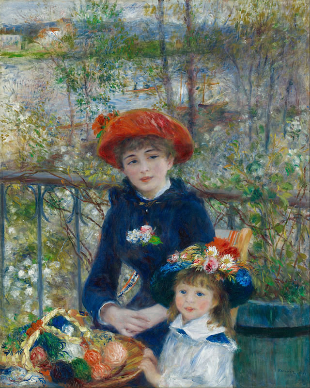 Pierre-Auguste Renoir-Two Sisters (On the Terrace)-Google Art Project antique pocket watch Pieces of Time