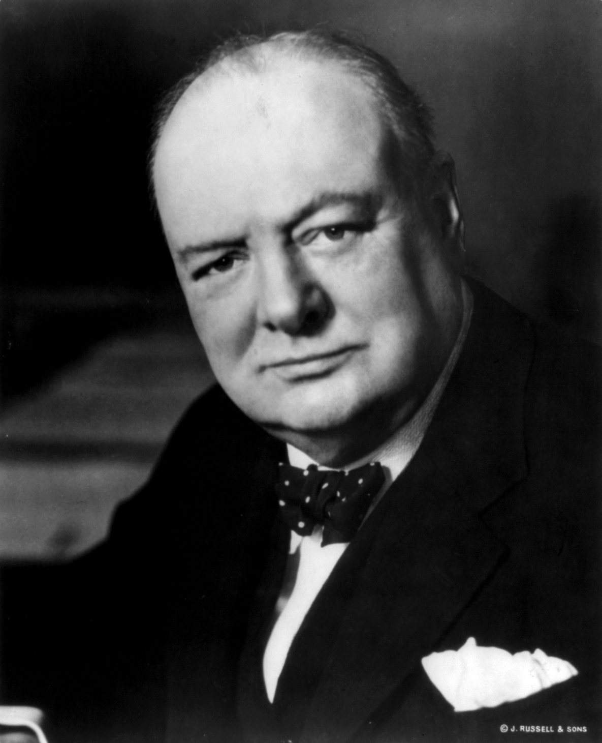 Former Prime Minister Winston Churchill inscribing an antique pocket watch- Pieces of Time