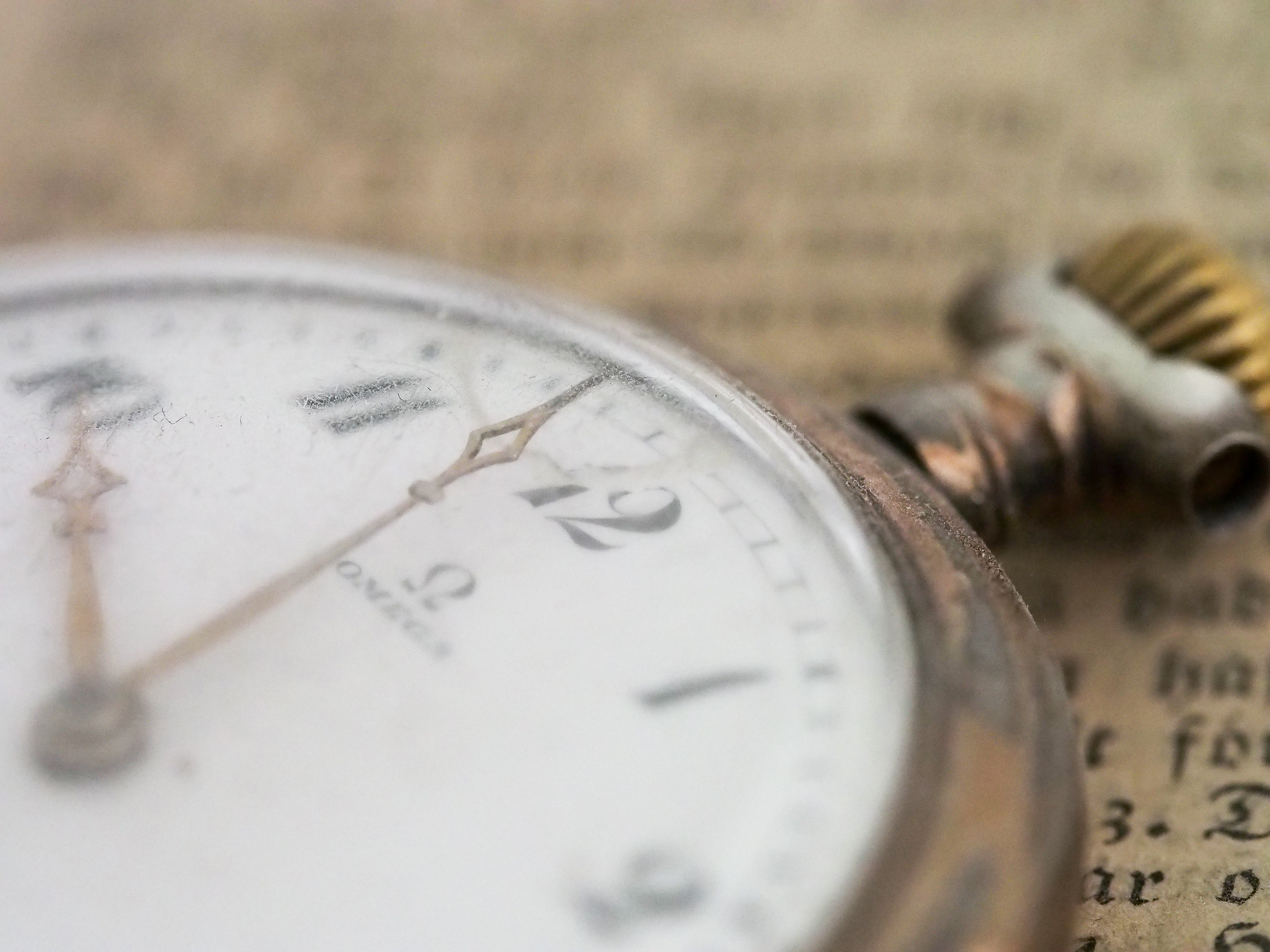 A close up shot of an antique pocket watch for sale near Pieces of Time