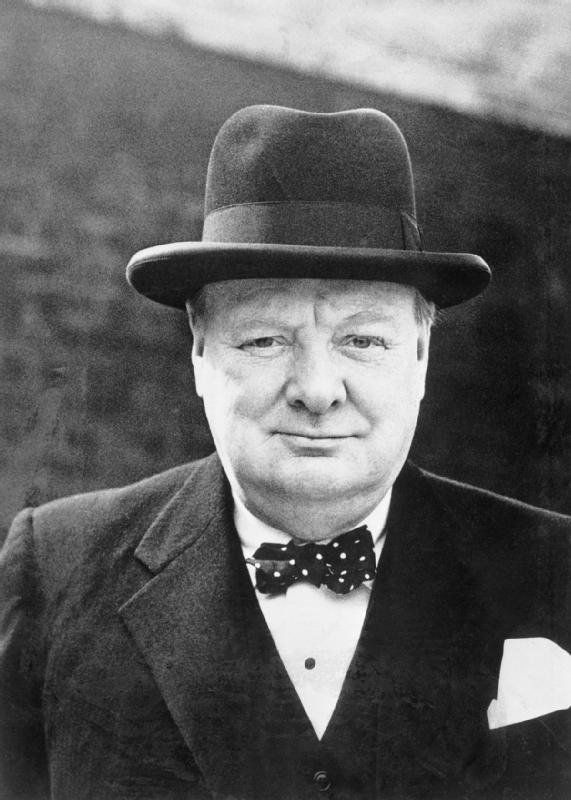 Winston Churchill a lover of antique pocket watches for sale like those at Pieces of Time