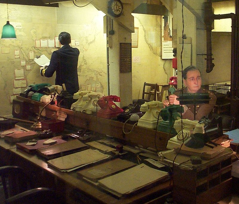 The Map Room in the Churchill Museum and Cabinet War Rooms near Pieces of Time