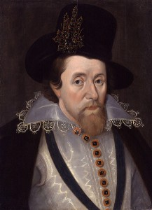 Portrait of James I as seen on early English pocket watches