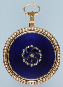 A Pearl and Diamond Set Enamel Verge available at Pieces of Time