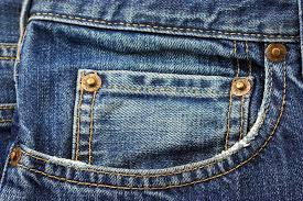 A close up of a pair of jeans at Pieces of Time