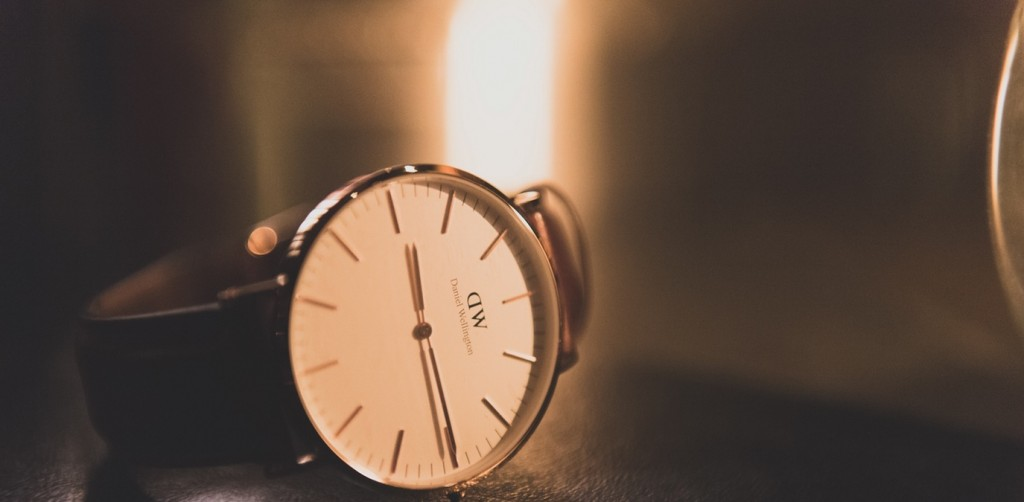 A wrist watch on a table