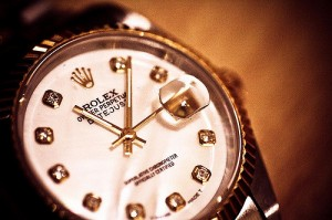 A Rolex date watch similar to the 'cursed' watch on eBay