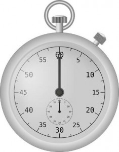 A modern stopwatch similar to those found on antique pocket watches