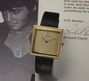 Elvis Presley's Corum Buckingham 18 kt. yellow gold wristwatch