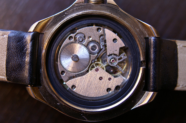 Artist makes little robot creations out of antique wrist watches