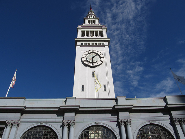 San Francisco Ferry Building clock tower is one of the most beautiful clocks in the world.