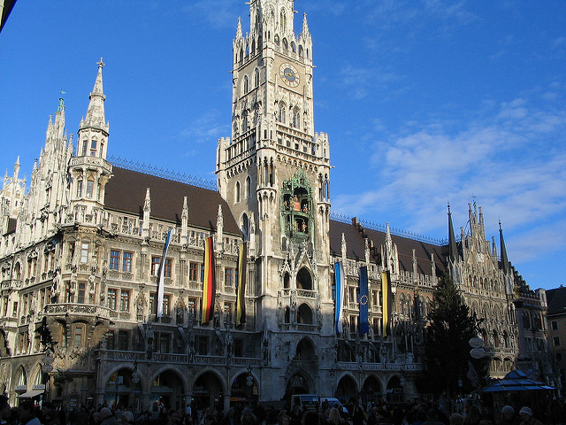 Glockenspeil in Munich, Germany is one of the most beautiful clocks in the world.