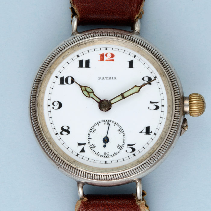 antique wrist watch from world war one, available from Pieces of Time.