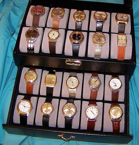 antique watches need proper dry, dark and safe storage.