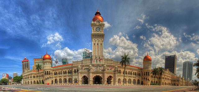 Sultan Abdul Samad Building Clock Tower in Malaysia is one of the most beautiful clocks in the world.