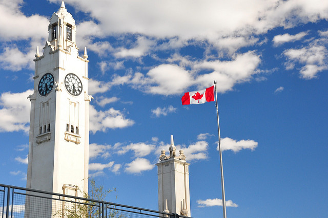 Old Port Tower in Montreal, Canada is one of the most beautiful clocks in the world.