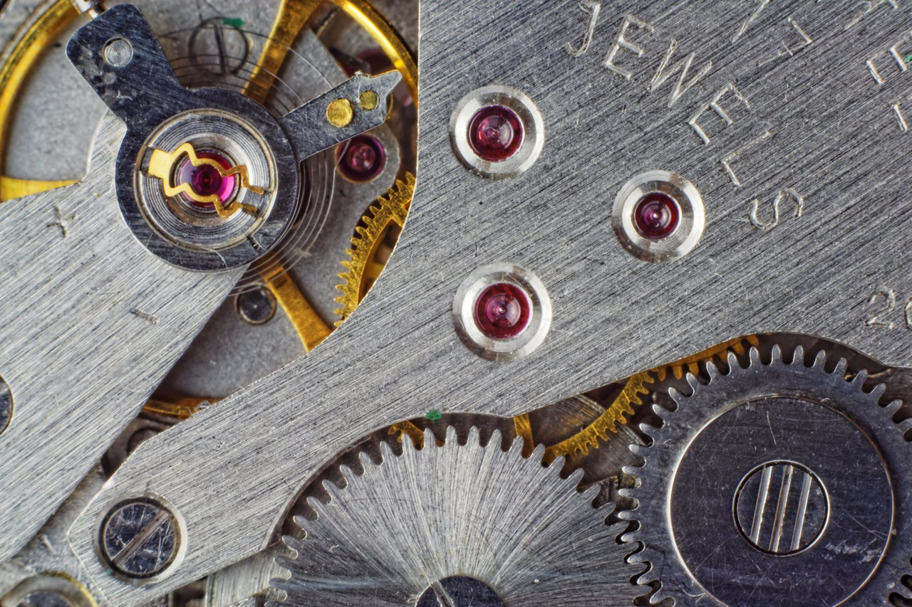 movements inside antique watches.