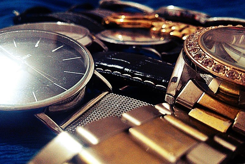 Collection of antique watches.