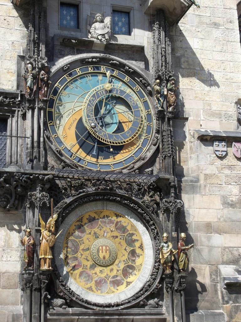 Prague astronomical clock located in the Czech Republic